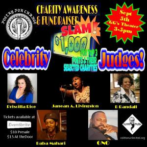 celebrity judges charity slam
